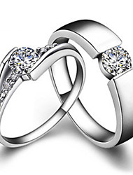 Couple Ring Sterling Silver 0.25CT Male Ring SONA Simulate Diamond 0.5CT Female Ring His and Her Jewelry Platinum Plated