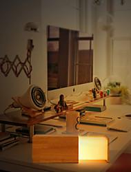 maishang® minimalista Tavolo in legno lampada da comodino lampada lampada da tavolo solido moderno