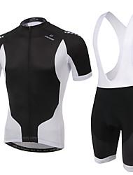 Maillot et Cuissard à Bretelles de Cyclisme Homme / Unisexe Manches courtes VéloRespirable / Séchage rapide / Design Anatomique /