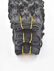 3pcs cabelo muito encaracolado virgem não transformados peruano cor natural preto humano tece