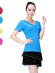 tops ( Azul/Rosa/Vermelho/Amarelo , Modal , Balé/Dança Latina/Ioga ) - de Balé/Dança Latina/Ioga - Mulheres