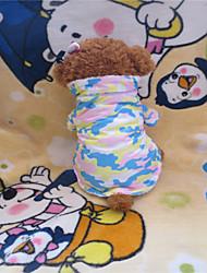 Chien T-shirt Jaune Hiver camouflage
