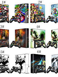 Mario Racing Skin Decal Sticker for Xbox 360 E Console & Controlers