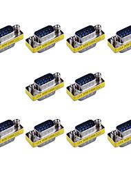 9 pinos macho para adaptadores vga trocador mini-VGA gênero masculino (10 peças)