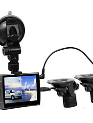 "Car DVR Separate Cameras Car DVR Recorder S3000A with Rear View Camera 3.5"" LED HD 720P H.264"