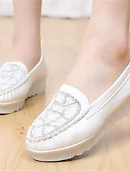 Rasos ( Borracha , Azul/Rosa/Branco ) Sapatos de Senhora - Salto Raso - 0-3cm