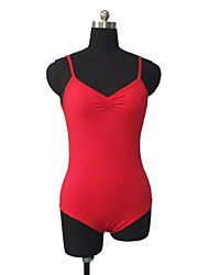 Cotton/Lycra V Front and Back Camisole Leotard More Colors for Girls and Ladies