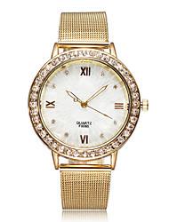 Mme. diamant disque en alliage montre bracelet à quartz