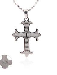 regalo groomsman personalizzare croce pendente uomini regalo