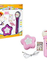 Colorful Musical Electronic Microphone with Loudspeaker and Light for Kids