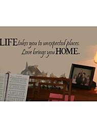 la vie vous emmène à des endroits inattendus devis mur décoratifs zy8081 ADESIVO de parede vinyle amovible stickers muraux