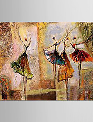 Oil Painting Ballet Classical Dance Modern Hand Painted Canvas with Stretched Framed