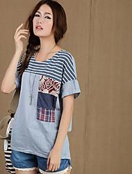 Katoen/Linnen Vrouwen - T-shirt - Korte mouw