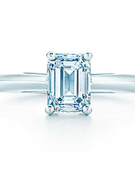 T Brand 1:1 Custom 1CT Excellent Emerald Cut Jewelry Sterling Silver Women Ring SONA Simulate Diamond Engagement Ring