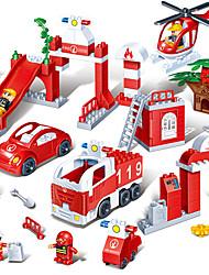 Блоки больших пластиковых строительных блоков 1-2-3-6 лет дети ребенок от раннего игрушек разведки пожара сцены в бутылках