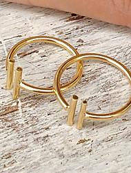 European Style Fashion Street Shoot Double-barreled Metallic Ring