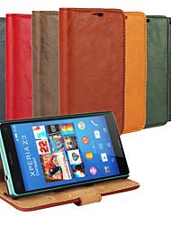 Pour Coque Sony Porte Carte / Portefeuille / Avec Support / Clapet Coque Coque Intégrale Coque Couleur Pleine Dur Cuir PU pour SonySony