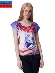 Druckt-shirt Mode cmfc®women Allgleiches schlanke Pullover T-Shirt Unterhemd beiläufige Sportkleidung oben