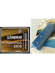 Kingston 32GB Ultimate 600x CompactFlash Memory Card (CF/32GB-U3) And CF Card Reader