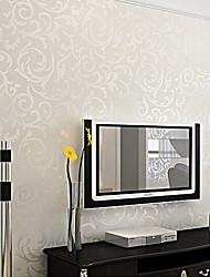 arbres de papier peint contemporaines / feuilles de l'art pariétal couvrant crémeuse paroi de la feuille blanche de PVC imperméable PVC /
