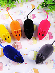 Cat / Dog Pet Toys Interactive Mouse Random Color Rubber