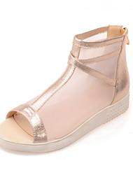 Women's Shoes Wedge Heel Wedges/Slingback/Gladiator Sandals Dress Black/Silver/Gold