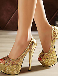 Women's Shoes Stiletto Heel eep Toe Platform Open Toe  Casual Pumps/Heels More Colors Available