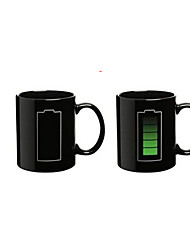 Creative color cup temperature ceramic color changing mug classic electricity design magic mugs