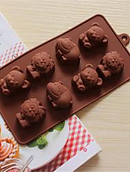 leão hipopótamo silicone bakeware Filhotes de moldes de cozimento para o chocolate