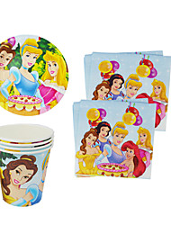 56pcs Princess Baby Birthday Party Decorations Kids Evnent Party Supplies Party Decoration 18 People Use