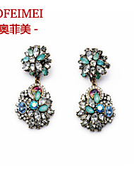 Colorful wild flowers exaggerated retro earrings earrings earrings earrings female