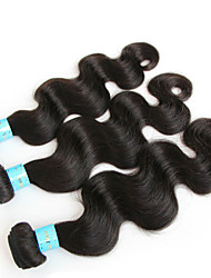 "8""-24"" Peruvian Virgin Hair Body Wave Human Hair Extensions Natural Black Hair Weaves Tangle Free"