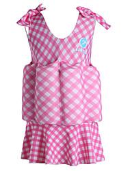 Tops de Natação/Bottoms Swimwear ( Rosa/Azul Céu ) - Crianças -Respirável/Alta Respirabilidade (>15,001g)/Resistente Raios