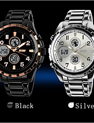 Mens Waterproof Electronic Movement Luminous Disc Multifunction Dual Display Sports Watch (Assorted Colors)