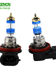 XENCN H8 12V 35W PGJ19-1 4300K Gold Diamond Car Fog Bright White Light Halogen Bulb UV Filter Auto lamp