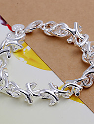 Siver Plated Cute Copper Chain Bracelet
