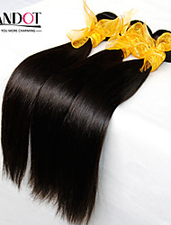 "3Pcs Lot 8""-28"" Malaysian Virgin Hair Straight Natural Black Human Hair Weave Bundles Shed & Tangle Free Hair Extensions"
