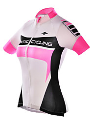 SANTIC Bike/Cycling Jersey / Tops Women's Short Sleeve Breathable / Ultraviolet Resistant Polyester / 100% Polyester Slim PinkS / M / L /