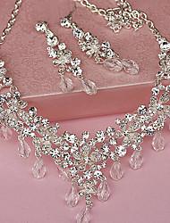 Ladies' Rhinestone Weddingy Jewelry Set