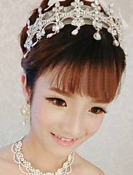 Women's Alloy/Rhinestone/Imitation Pearl Wedding/Party Jewelry Set With Imitation Pearl/Rhinestone