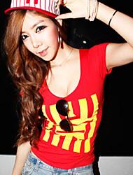 De las mujeres Camiseta Licra - Manga Corta