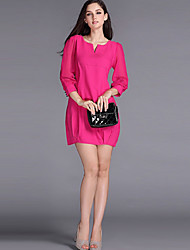Women's New Fashion Elegant  V Neck  A-line Dress