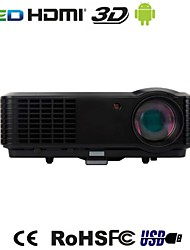 LED 3D Portable 1080P Full HD 2800 Lumens HDMI Multimedia Projector for Home Cinema,Business And Education
