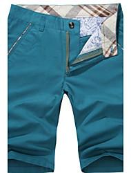 De los hombres Shorts - Casual/Trabajo/Formal/Deporte Un Color - Algodón