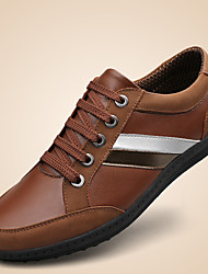 Men's Shoes Casual Leather Fashion Sneakers Brown