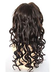 pelo humano de 8-24 pulgadas de encaje pelucas de cabello humano sin cola onda floja vírgenes pelucas delanteras del cordón del pelo