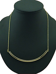 Women's Simple Fashion Metal U-Shaped Single Tube Pendant Necklace