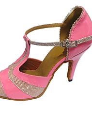 Zapatos de baile (Rosado) - Danza latina/Salsa/Zapatos Estándar Tacón Personalizado