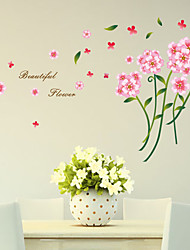 Wall Stickers Wall Decals , Pink Flower Sticker PVC Wall Stickers