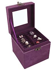 Lavie®Purple Velvet Jewelry Box Three Small, Easy to Travel to Carry Organize Admission